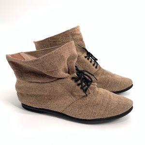 Ecote Urban Outfitters Booties ankle fold over 6M